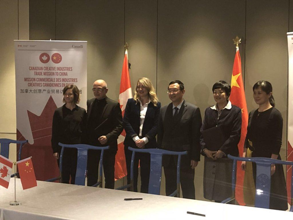 Ministre Mélanie Joly Signature contrat Chine